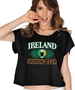 St Patricks Day Ireland Drinking Team Ladies Boxy Tee