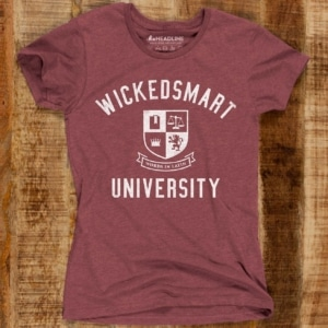 Wickedsmart University Women's Cotton/Poly T-Shirt